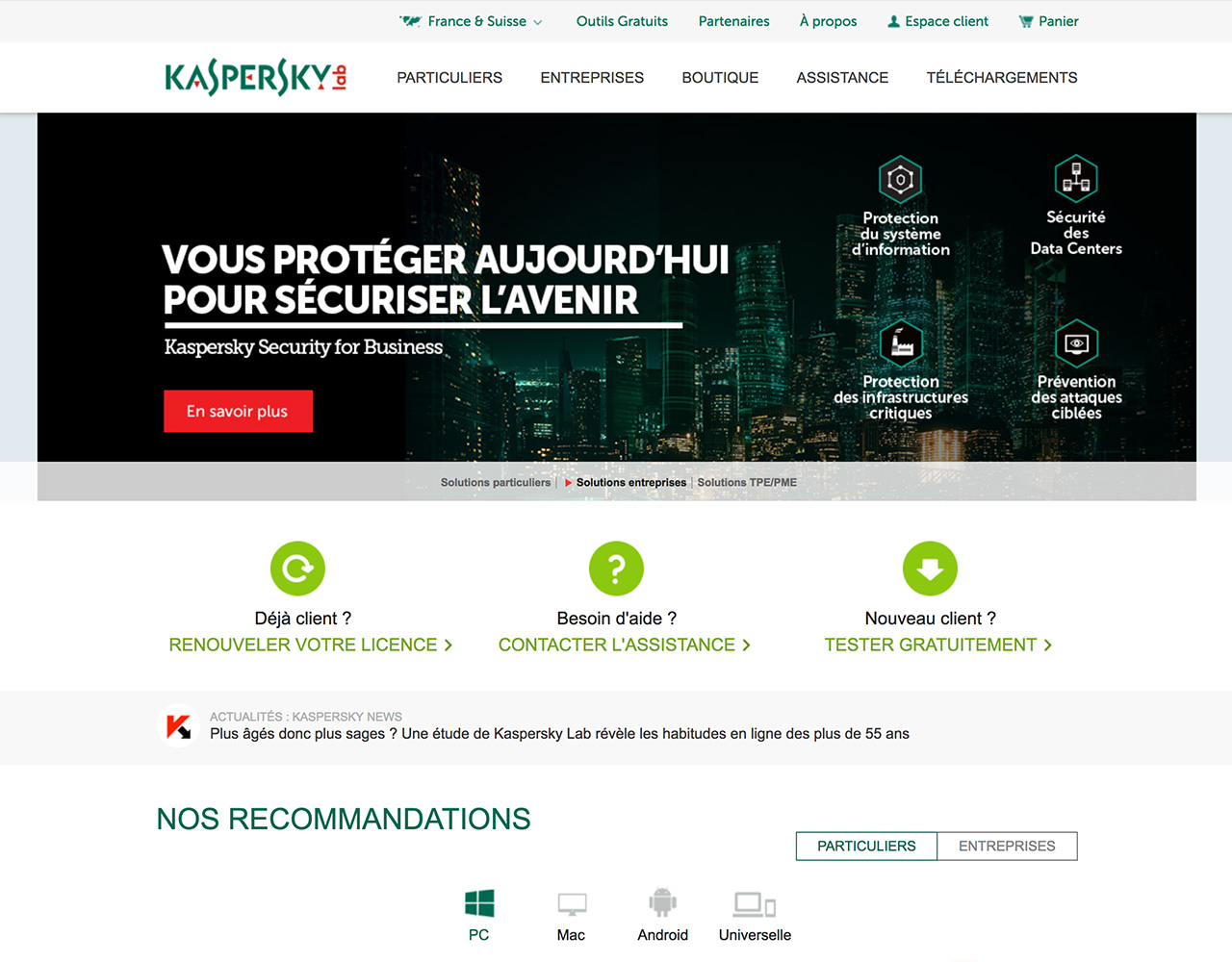Kaspersky | Protection totale -20%